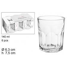 bicchieri vetro set 6 bicchieri bicchiere trasparente 140ml hispania in vetro da ta