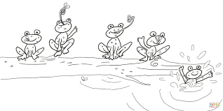 5 little speckled frogs coloring page free printable coloring pages