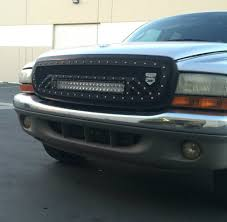 dodge dakota black grill 1997 2004 dodge dakota 20 row led style 2 bottom mount