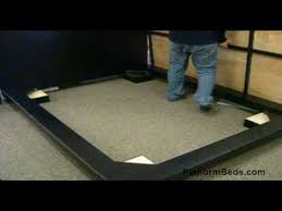 blocks modern platform bed assembly youtube