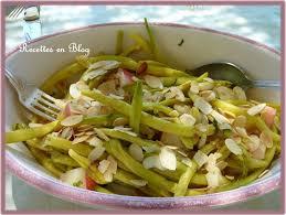 cuisiner haricots beurre salade de haricots beurre aux amandes et nectarines recettes en