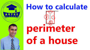 how to calculate perimeter of a house youtube