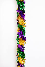 15 u0027 mardi gras tinsel garland the mardi gras collections