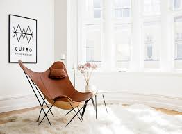 leather butterfly chair leather butterfly chair montana u2014 nordic house