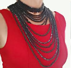 multi layered black necklace images Gallery 8 black pearl necklace jpg