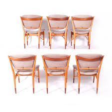 set of six finn juhl nv 51 for baker dining chairs for sale at 1stdibs