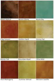 Stain Color Chart Concrete Coating Color Chart Color Charts U2014 Custom Coatings Concrete Floor Finishes