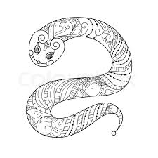 happy new year 2013 snake year vector black and white