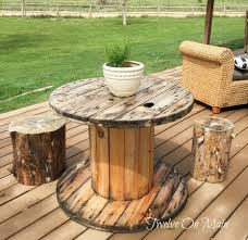 outdoor tables made out of wooden wire spools 15 awesome wire spool decor ideas twelve on main