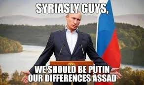 Syria Meme - vladimir putin issues a statement on the us missile attack in syria