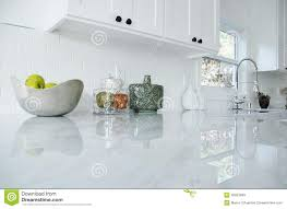 Carrara Marble Kitchen by Kitchen Counter Stock Photo Image 45623889