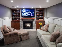 Design Living Room With Fireplace And Tv Heating Your Basement Hgtv