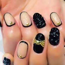 34 black and gold acrylic nail designs stylepics