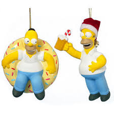 kurt s adler set of 2 the simpsons homer with doughnut