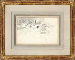 sketch for gulf stream by winslow homer on artnet