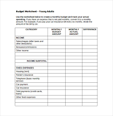 Monthly Budget Sheet Template 10 Monthly Budget Spreadsheet Templates Free Sle Exle