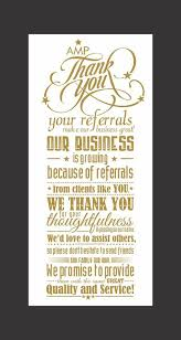 thank you card client free thank you for your referral cards