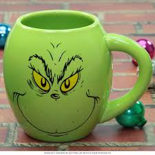 merry grinchmas grinch oval holiday coffee mug cartoon character
