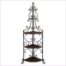 Trellis Wine Kitchen Room Awesome Outdoor Bakers Rack Wrought Iron Portable