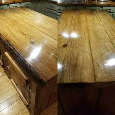 wood top kitchen island diy live edge hickory wood top kitchen island project