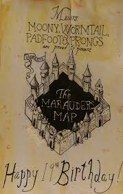 Harry Potter Map Harry Potter U0027the Marauders Map U0027 Birthday Card By Hollytree8 On