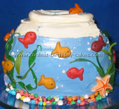 fish birthday cakes coolest aquarium and fish birthday cake ideas aquarium cake