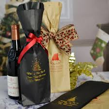 wine bottle gift bags christmas wine bottle gift bags personalized 5 x 16 paper