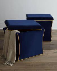 Navy Blue Storage Ottoman Blue Ottoman With Storage Useful Gallery Including Navy