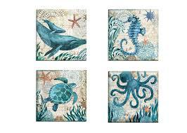 amazon com portfolio canvas decor 4 piece u0027monterey bay octopus