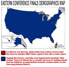 Nba Divisions Map Nba Eastern Conference Finals Game 7 Demographics From Scientists