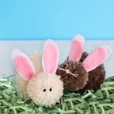 diy pom pom easter bunnies blitsy