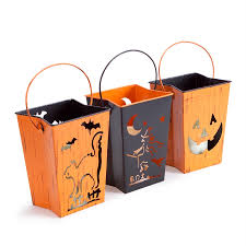 shop melrose international set of 3 happy halloween lanterns with