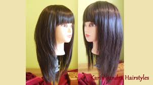 how to cutting bangs in a layered hairstyle long layered bob haircut with bangs long length layers haircut
