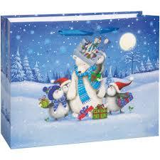 large starry night christmas gift bag walmart com