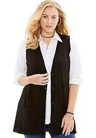 roamans s plus size sweater vest at