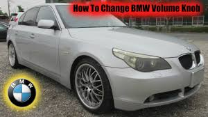 how to change bmw volume knob youtube
