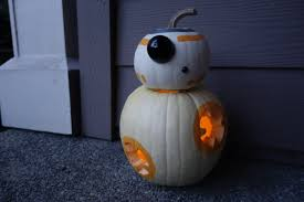 get a thumbs up from trick or treaters with this bb 8 o u0027 lantern