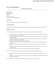 Construction Worker Resume Examples by Daycare Worker Resume Example Solomei Com