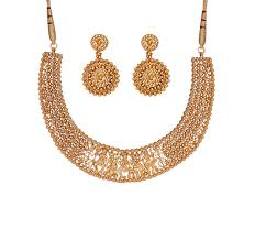 gold necklace jewellery images Designer gold divyam temple jewellery online tanishq jpg