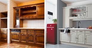 repeindre une cuisine en bois peindre cuisine bois