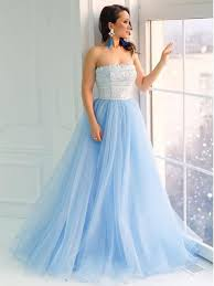 light blue formal dresses strapless lace light blue a line cheap evening prom dresses sweet