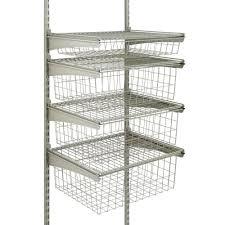 home depot black friday yonkers closetmaid shelftrack 5 ft to 8 ft nickel closet organizer kit