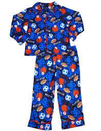falls creek boys sleeve allstar sports pajamas blue