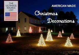 Christmas Ornaments Outdoor Tree by Christmas Decorations Deck The Halls With Usa Made Our Source List