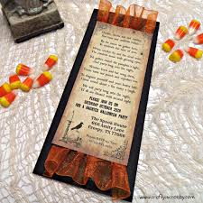 Halloween Party Invite Poem Crafty In Crosby Halloween Party Invitation 2014