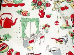 Fabric For Kitchen Curtains Typical 1950 U0027s Fabric For Kitchen Lost In The 50 U0027s Pinterest
