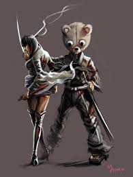 afro samurai afro samurai images lady sio and kuma hd wallpaper and background