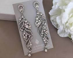 rhinestone chandelier earrings chandelier earring etsy