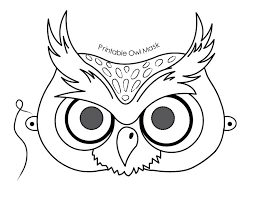coloring pages mask coloring pages owl mask coloring pages
