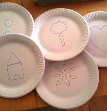 a little learning for two paper plate stencils